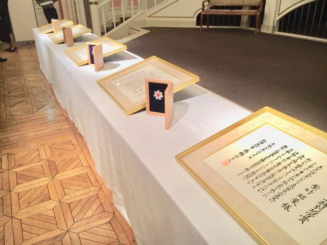 北海道150年特別功労賞『盾/表彰式』揮毫